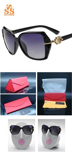 ccae6b5b565 Aliexpress.com   Buy SUNSTONE Chic Designer Women s Polarized Brand  Sunglasses   Box Anti ultraviolet Colorful Coating Sunscreen Open air  Shades.