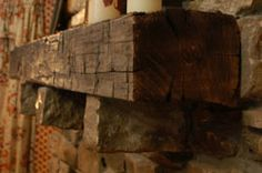 How to install a barn beam mantle; not a pallet but I can make these too