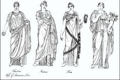 """The women of ancient Rome wore a long tunic called a stola....The over-garment was often sleeveless, so a heavy woolen cloak would be worn over it in cold weather. The tunic was made mainly of wool, or silk if the wearer was able to afford it. Tunics were dyed in different colors, which were usually bright because Romans loved vibrant varieties of colors.""  https://www2.bc.edu/~mcglynka/honors4.html"