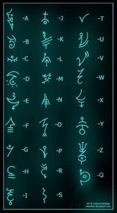 tattoos in different languages words - tattoos in different languages . tattoos in different languages quotes . tattoos in different languages words . tattoos in different languages symbols Alphabet Code, Alphabet Symbols, Greek Alphabet, Witches Alphabet, Sign Language Alphabet, Simbolos Tattoo, Inca Tattoo, Glyph Tattoo, Rune Tattoo