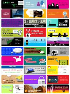 How to stay safe online - 30 tips. Could use to open up a discussion about how to do each thing