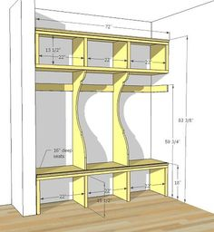 built-in plans for mudroom