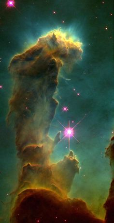 """The Pillars Of Creation"" - A Portion of M16, the Eagle Nebula"