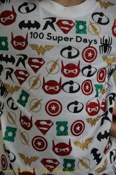 Check out this 100 Super Days T-shirt created with Cricut!