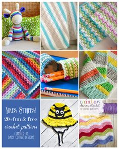 20 Free Striped Crochet Patterns from Daisy Cottage Designs #crochetpatterns #crochet #daisycottagedesigns