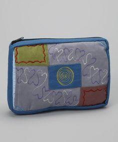 Loving this Blue & Gray Patchwork Clutch on #zulily! #zulilyfinds