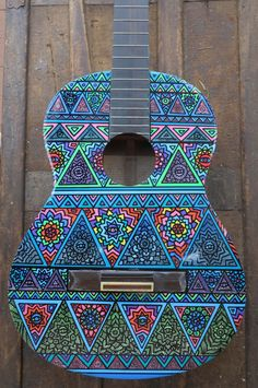 Custom Hand Painted Guitars by SaltyVibesArtwork on Etsy