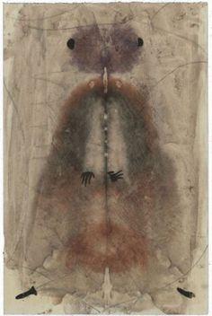 Eugen Gabritschevsky - 1952 env. - Sans titre - test de Rorschach - Collection de l'Art Brut, Lausanne http://lepoignardsubtil.hautetfort.com/art_brut/