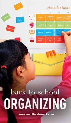 Back-to-School Organizing | Martha Stewart Living