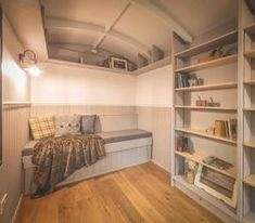 The Hideaway by The English Shepherds Hut Company. A cosy and intimate Shepherds Hut, ideal as a spare room or study for one or two people. Shepherds Hut For Sale, Boutique Camping, Wooden Hut, Gypsy Wagon, Bespoke Furniture, Spare Room, Pallet Furniture, Glamping, Campers