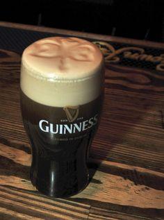 Shamrock head pint Of Guinness in an Irish Pub!