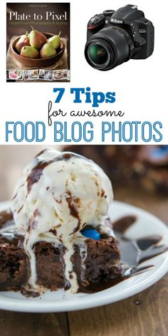 7 Tips for taking Food Blog Photos! Just a few easy techniques will make your food photography photos shine.