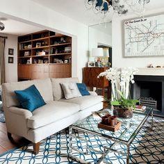 Graphic zeitgenössische Wohnzimmer Wohnideen Living Ideas Interiors Decoration