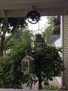 36 beautiful farmhouse backyard decor ideas and design 12 Garden Yard Ideas, Garden Projects, Garden Art, Terrace Garden, Rustic Lanterns, Rustic Outdoor Decor, House With Porch, Decks And Porches, Outdoor Projects