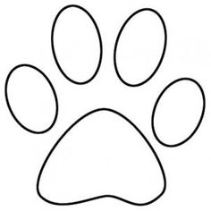 Dog paw print pattern Use the printable outline for crafts