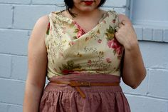 DIY//pillow case swoop neck line shirt by rebeccacaridad, via Flickr