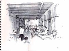 Allan Kirk artist and teacher Pen And Watercolor, Arcade, Beautiful