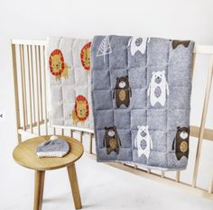 Forest Bear Baby Quilt Pram Blanket Play Mat