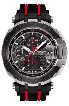 2452e7c85 Tissot Men's Swiss Automatic Chronograph T-Race MotoGP Limited Edition 2015  Black Rubber Strap Watch