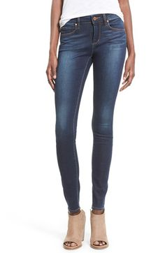 Free shipping and returns on Articles of Society 'Mya' Skinny Jeans (Tahoe) at Nordstrom.com. Soft fading through the legs and seat lends a slightly casual look to versatile skinny jeans cut from dark stretch denim.