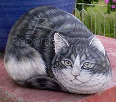 « Returns to Rock Paintings Most mammals use to snuggle down, therefore they are perfect subjects for painted rocks. Audience at my exhibitions particularly likes dogs, cats and prickets, but in th…
