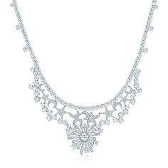 Jean Schlumberger Stars and Moons necklace in platinum with diamonds.