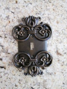 Metal Single Light Switch Plate Cover  Old World Medieval Tuscan French Country Hacienda Spanish style decor