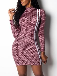 Letter Print Stripes Tape Bodycon Mini Dress Shop- Women's Best Online Shopping - Offering Huge Discounts on Dresses, Lingerie , Jumpsuits , Swimwear, Tops and More. Trendy Outfits, Fashion Outfits, Women's Fashion, Fashion Blogs, Bodycon Fashion, Night Outfits, Latest Fashion, Womens Fashion Online, Pattern Fashion