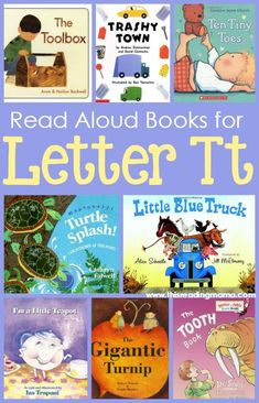 Read Aloud Books for the Letter T ~ Great for tots, Pre-K and Kindergarten | This Reading Mama