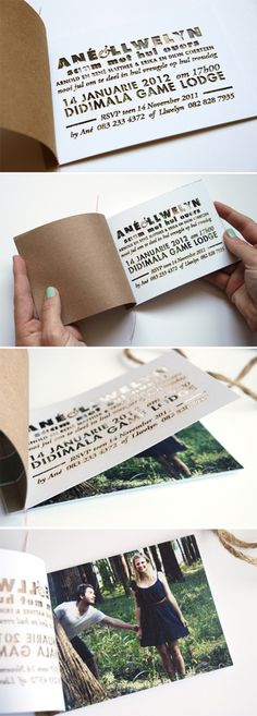 Invitations  - the cut-out effect, but just on the margin of the invite