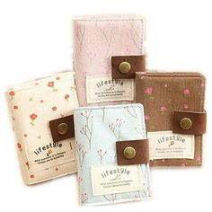 [Visit to Buy] ID Card Holder Visa Business Card Holder Cotton Fabric Cute Floral Female Credit Gift Card Wallet Women Passport Cover #Advertisement
