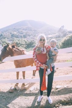 I thought I would share a few more photos from feeding horses in California!! Atticus didn't really like the horses but to be honest I cant blame him since one totally bit my arm haha! My plaid top must look kind of like an apple. I so badly wanted to be a horseback rider growing …
