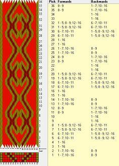 16 tarjetas, 3 colores, repite cada 12 movimientos // sed_259 diseñado en GTT༺❁