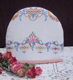 Vintage Victorian Embroidery Tea Cozy so by MyEnchantedStudio