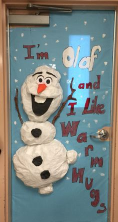 OLAF Classroom Door Decoration v1 - Aikotopia's design for TK's class 2014