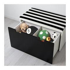 STUVA Bank met bergruimte - wit/zwart - IKEA