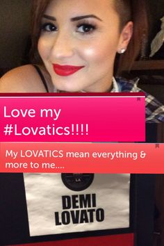 and you mean everything and more to your lovatics<3  #lovatics