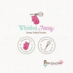 oven mitt logo whisk logo design bakery logo by stylemesweetdesign Bakery Branding, Branding Design, Logo Sticker, Sticker Design, Kitchen Logo, Design Kitchen, Pastry Logo, Dessert Logo, Cupcake Logo