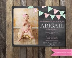 First birthday invitation chalkboard invitation bunting invitation first birthday invitation chalkboard invitation bunting invitation first birthday invite any age any text photo invitation printable 1st birthday filmwisefo
