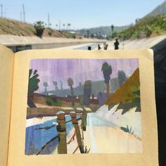 Peter Chan, LA River Gouache Painting, Painting & Drawing, Peter Chan, Image Painting, Small Paintings, Urban Sketching, Art Pictures, Watercolor Art, Concept Art