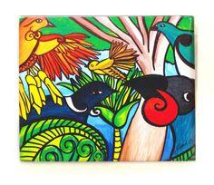 Sarah C Art Block : Birds of Tane – www.themotelshop.co.nz Sarah C, New Zealand Art, Nz Art, Cowboy Art, Art Club, Bird Art, Art For Kids, Birds, Quilts