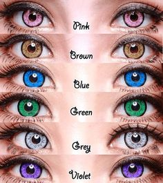 colored eye contacts Shades of Contact Lenses Get Lost in those Purple(?) Eyes These days, there are numerous shades of contact focal points accessible to suit your each mind-set. Cool Contacts, Cat Eye Contacts, Colored Eye Contacts, Halloween Contacts, Blue Contacts, Circle Lenses, Air Optix, Eye Color Chart, Beautiful Eyes Color