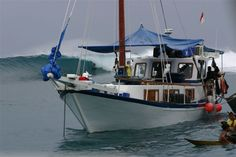 """Nusa Dewata is the name of this sailboat, which means """"Island of the Gods"""" in Bahasa Indonesian.  #Sailboat #Islands"""