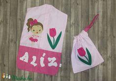 Kislányos oviszsák szett névvel, tulipán ovis jellel (LucaAgi) - Meska.hu Pot Holders, Diy, Hot Pads, Bricolage, Potholders, Do It Yourself, Fai Da Te, Diys, Planters