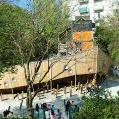 Base Playground in Belleville Park in Paris 05
