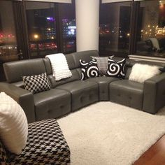 Our Bleeker Powered Reclining Sectional & Omni Throw are right at home in @danny4nancy's space.