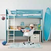 kids loft bed with desk u0026 drawers asoral bed beds with storage