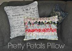 #DIY Flower Petal Pillow from @Lindsay Conner | #craftmonthlove Supplies from Joann.com