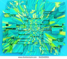 3d render: Geometrical Triangular Background