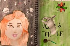 "Visual Journals #1 - Draw/Paint - ""ME"" - NGHS Room 406"